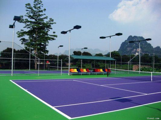 Thi công sơn sân Tennis chuyên nghiệp