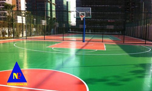 nhận thi công sân bóng rổ đạt chuẩn giá rẻ