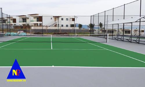 thi công sân tennis đạt chuẩn