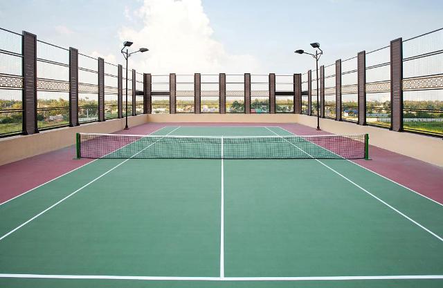 Thi công sân Tennis, bóng chuyền, bóng rổ, cầu lông